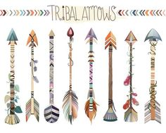Tribal Feathers Clipart - Set of 31 Vector, PNG & JPG Files - Unique, Beautiful Boho Feather Clip Art in Coral, Navy, Mint and Gold Arrow Feather, Tribal Feather, Tribal Arrows, Arrow Clipart, Vector Clipart, Clip Art, Arrow Tattoos, Tatoos, Etsy