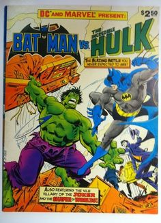 Batman vs The Incredible Hulk Treasury Edition Marvel DC Comics 1981 VF   eBay