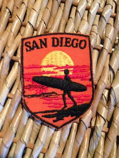 San Diego Vintage Travel Patch by Voyager by HeydayRetroMart, $4.00