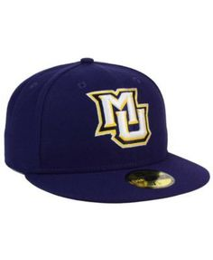 hot sale online 4e5ce 7a947 New Era Marquette Golden Eagles Ac 59FIFTY Fitted Cap - Blue 6 7 8