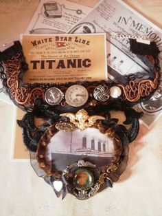 RMS Titanic  Steampunk Lace Choker by ProfMaelstromme on Etsy, $45.99