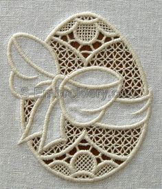 Easter machine embroidery - 10575 Easter egg cutwork lace embroidery design