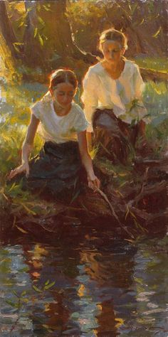 Summer - Mike Malm-Summer Play-2010-sold Figure Painting, Painting Art, Art Themes, Malm, Art For Art Sake, New Artists, Beautiful Paintings, Art World, Figurative Art