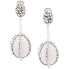 Saint Laurent crystal clip-on earrings - Grey PjTC2Dp80