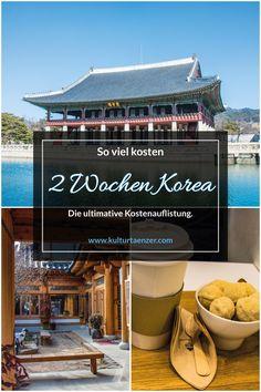 So viel kosten 2 Wochen in Südkorea.