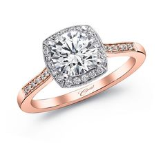 Engagement ring #LC5391RG - Rose Gold Collection - Coast Diamond