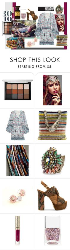"""""""So Boho"""" by kelly-floramoon-legg ❤ liked on Polyvore featuring Viseart, Rock 'N Rose, Talitha, NOVICA, Sweet Romance, Ash, By Terry, Nails Inc., Tom Ford and Bohemian"""
