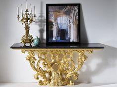Consolle rettangolare in marmo CHIGI Collezione Palazzo by Rozzoni Mobili d'Arte