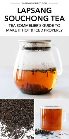You can easily make lapsang souchong tea at home with this guide from Oh, How Civilized. This amazing tea taste like a fall campfire in a cup. Grab this delicious tea sommelier approved recipe and see what makes this tea perfect for drinking in the fall! #tea #tearecipe #hottea #icedtea Lapsang Souchong Tea, Acquired Taste, Buy Tea, Brewing Tea, Kettles, Simple Syrup, Iced Tea, Herbal Medicine, Teapots