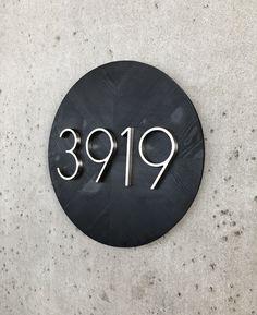 House Number Plaque, House Numbers, House Number Wood,  House Number Sign, Modern House  Number,  Address Plaque, Address Sign, Round, NO:N5