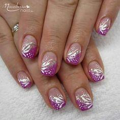 * Short Nail Designs, Gel Nail Designs, Fingernail Designs, Nail Designs Spring, Cute Nail Designs, Art Designs, French Nail Art, French Tip Nails, Spring Nail Art