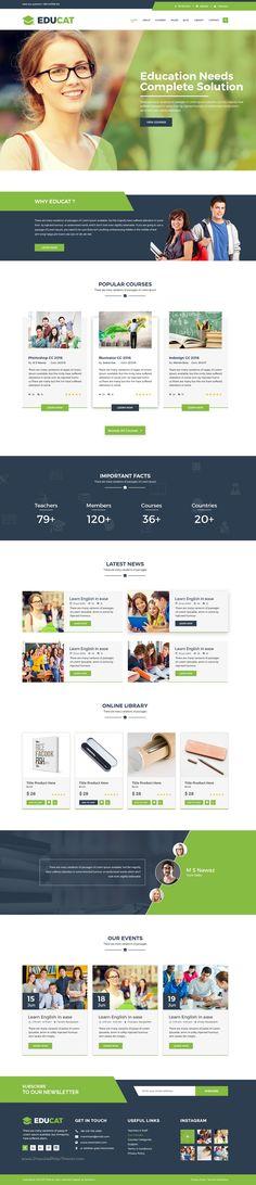 Educat is wonderful premium #PSD template for #education website. #edutech…