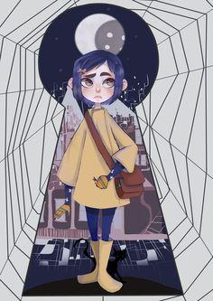 Coraline Jones by PastaNya.devianta… on Coraline Jones von PastaNya. Coraline Jones, Coraline Art, Art Tim Burton, Tim Burton Kunst, Art Manga, Anime Art, Caroline Movie, Coraline Aesthetic, Photo Manga