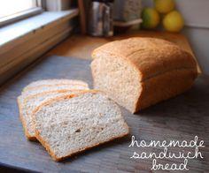 homemade sandwich bread recipe - easy and quick!
