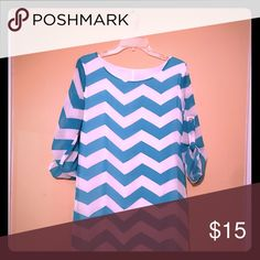 Dress Aqua blue Chevron mini dress Dresses Mini