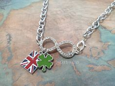 One Direction inspired necklace - Rhinestone Infinity - Niall Horan, Harry Styles, Louis Tomlinson, Zayn Malik, Liam Payne
