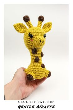 Learn how to get started with amigurumi with this crochet pattern. Create your own cute crochet Giraffe project with this easy crochet pattern! Cute and kawaii, this basic and beginner friendly DIY project is perfect for any crocheter. This stuffed animal is perfect for home decor and crafters who love going to the zoo! This stuffed doll is the sweetest and beginner friendly project! Make your own for friends, family, and holiday crochet. On Etsy and Ravelry. Cute Crochet, Crochet Dolls, Giraffe Crochet, Thing 1, Holiday Crochet, Easy Crochet Patterns, Digital Pattern, Single Crochet, Create Your Own