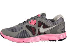 Nike Lunarglide 3 Womens Running Shoes Timbold GreyGraniteMidnight FogLaser Pink 45431508095 * Click on the image for additional details.