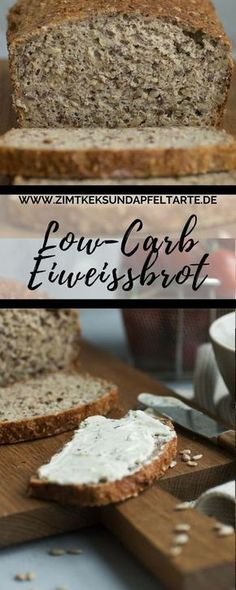 Super easy, baked very quickly: my recipe for low-carb protein bread - low fat, lots of protein and very tasty. Make protein bread yourself simple and quick recipe for low-carb protein bread Eva Bonow evabonow Backideen Super easy, baked very quick Protein Bread, Low Carb Protein, Healthy Protein, Protein Snacks, Low Carb Keto, Protein Smoothies, Low Carb Bread, High Protein, Paleo Dessert