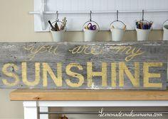 You are my sunshine barnwood sign
