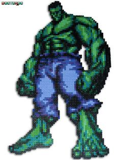 Incredible Hulk Bead Sprite | Flickr - Photo Sharing! HULK! This site is awesome for cool perler bead stuff!