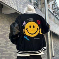 Varsity Jacket Outfit, Nike Jacket, Bomber Jacket, Witcher Wallpaper, Trendy Outfits, Fashion Outfits, Black Outfits, Summer Outfits, Gray Jacket
