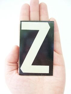vintage letter Z metal sign typeface font by RecycleBuyVintage, $8.00