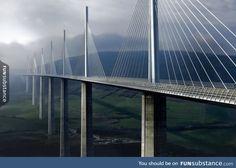 The Millau Viaduct. Tallest bridge in the world