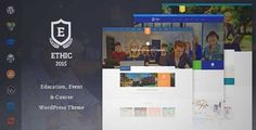 Download and review of Education, Event and Course - ETHIC LMS Theme, one of the best Themeforest Education themes