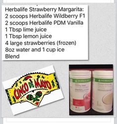 Nutrition Label For Eggs Info: 7790867025 Herbalife Meal Plan, Herbalife Shake Recipes, Protein Shake Recipes, Herbalife Nutrition, Protein Shakes, Margarita, Herbal Life Shakes, Isagenix Shakes, Nutrition Club