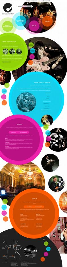 Curious Generation Group - Events and Promotion - Management and Booking - #Webdesign #inspiration www.niceoneilike.com