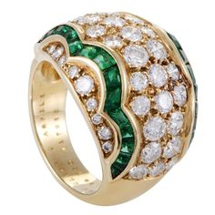 Van Cleef & Arpels ~ Emerald Diamond Gold Ring