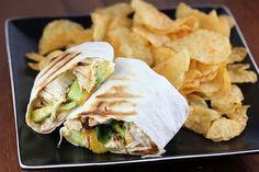 Chicken and Avocado Wraps Recipe   BlogChef.net