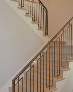 leave risers and tread stained. paint outer stringer and house stringer trim color - jenkins interiors