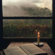 candlelight reading | rainy day | relax