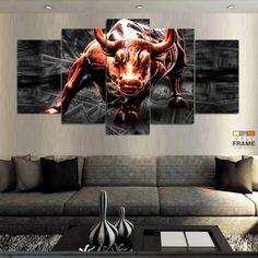 Wall Stret, Bull Painting, Bull Tattoos, Best Modern House Design, Graphic Design Fonts, Trading Quotes, Buy Cryptocurrency, Bullen, Stock Market Investing