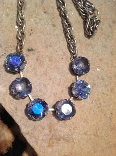 Six stone swarovski crystal necklace