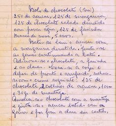 As Receitas da Avó Helena e da Avó Eduarda: Bolo de Chocolate (Tia Mi) (Chocolate Cake - Aunt Mi)