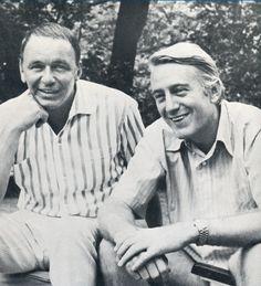 1968 Rod McKuen and Frank Sinatra 03, Rod McKuen wrote for Frank Sinatra the bestselling album 'A Man Alone'