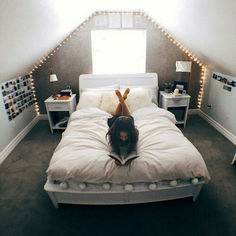 Do you know that attic can be used not only as a storage room but also as a comfy bedroom with hundreds of amazing designs? If you prefer a quiet, calm as well as a cozy bedroom, then attic bedroom… Continue Reading → Attic Bedroom Designs, Attic Bedrooms, Bedroom Loft, Cozy Bedroom, Teen Bedroom, Dream Bedroom, Attic Bedroom Ideas For Teens, Teenage Bedrooms, Attic Bedroom Decor