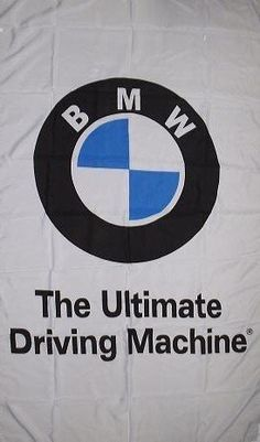 NEOPlex 3' x 5' BMW White Ultimate Driving Machine Automotive Logo Flag by NEOPlex. $18.75. This 3 x 5 foot automotive logo advertising flag is made from super polyester that is durable, yet lightweight enough to fly in even the lightest breeze. It has 2 brass grommets firmly attached to heavy canvas on the inner fly side. Bright, vivid colors and colorfast to reduce fading. Many titles to choose from.