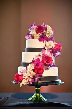 Waterfall flower cake