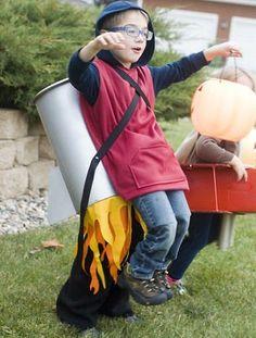 Disfraces caseros originales para niños Carnaval 2014 cohete