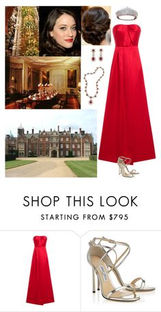 """Dining with the rest of the royal family at Sandringham"" by new-generation-1999 ❤ liked on Polyvore featuring Jason Wu and Jimmy Choo"