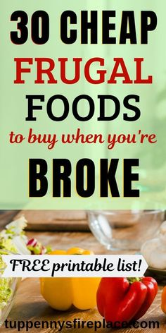 Such a helpful list of healthy cheap foods to buy. And bonus 12 easy dinner recipes suggestions to use these cheap foods. Cheap foods for two, families and vegetarian to keep to a tight budget. Frugal foods to buy when you are broke. Frugal Meals, Frugal Tips, Budget Meals, Frugal Recipes, Freezer Meals, Pasta Recipes, Healthy Recipes, Eat On A Budget, Cooking On A Budget