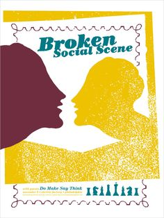 Broken Social Scene screen printed gig poster — Kevin Mercer