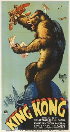 CANVAS Ray Harryhausen With King Kong Model Used in Films Art print POSTER