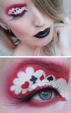 Queen of hearts makeup                                                                                                                                                     Más