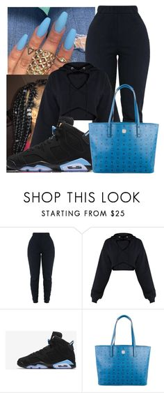 """""""Untitled #23"""" by iamroyaltyy ❤ liked on Polyvore featuring NIKE and MCM"""