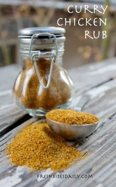 A roasted curried chicken made possible with this special rub… – Fresh Bites Daily Best Chicken Seasoning, Curry Seasoning, Chicken Rub, Seasoning Mixes, Roasted Chicken, Baked Chicken, Homemade Spices, Homemade Seasonings, Spice Mixes